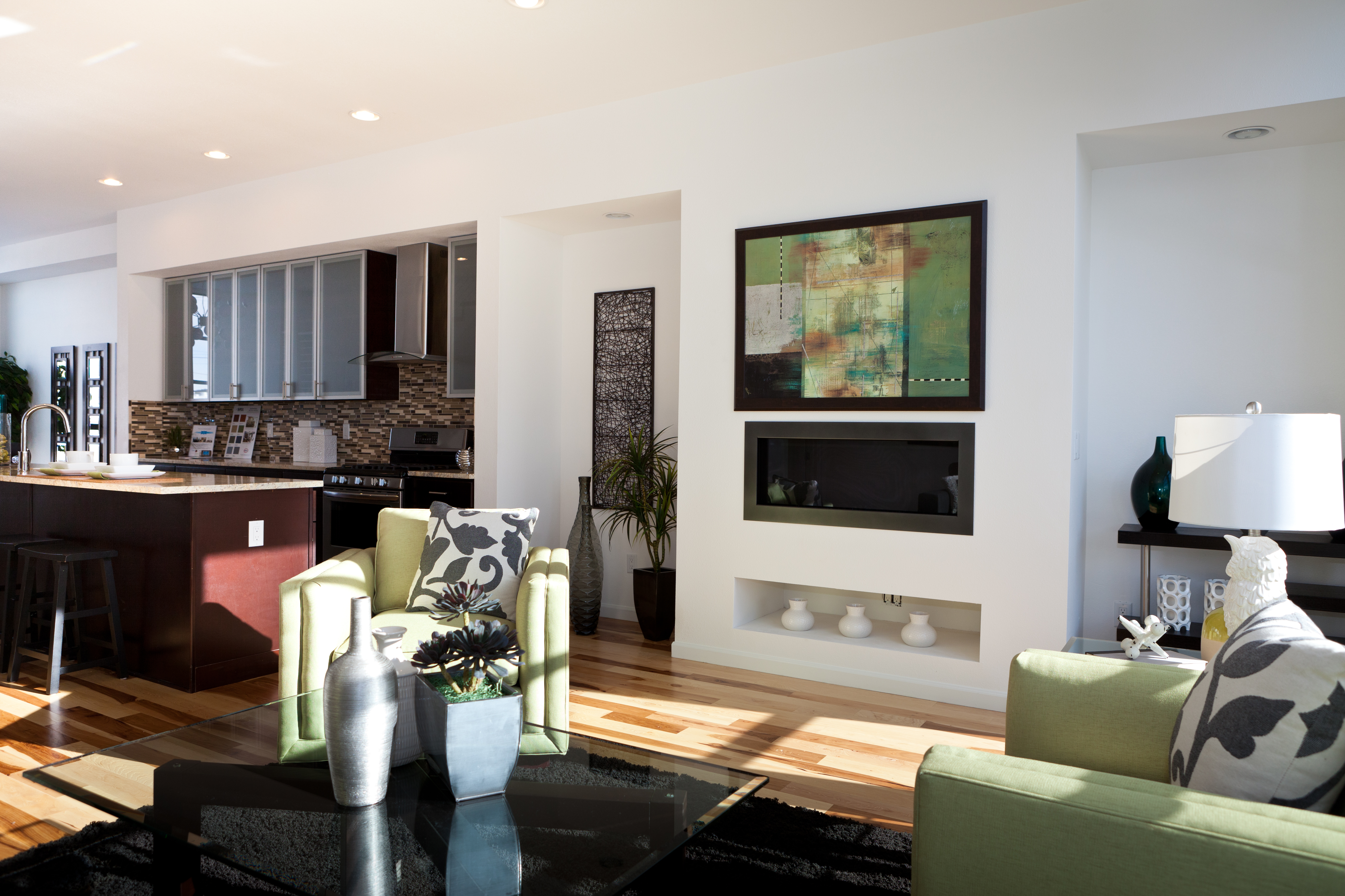 Stoll Family Room and Kitchen